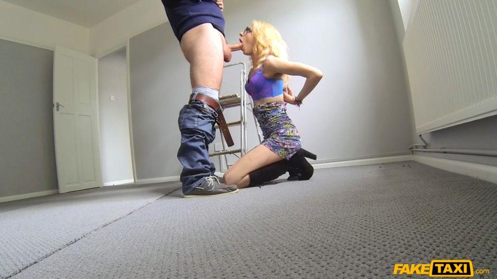FakeTaxi – April Paisley – Thin Petite Blonde Takes Big Dick