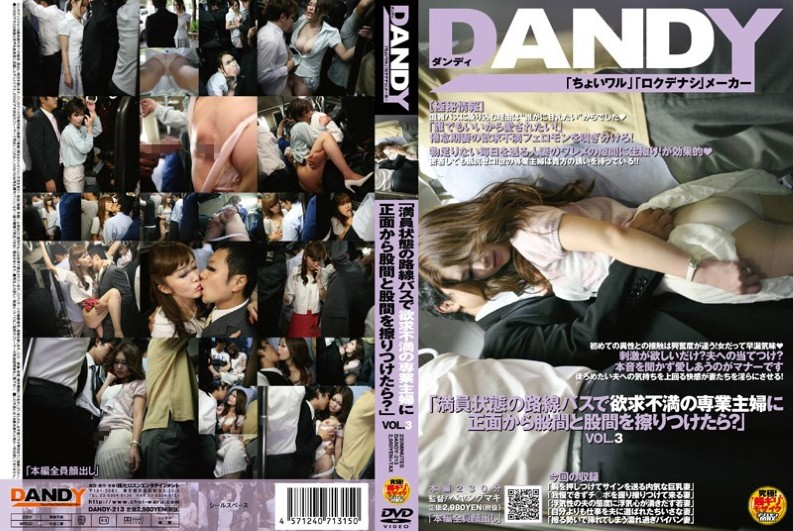 "DANDY-213 ""If Rubbing And Crotch To Crotch From The Front Of Full-time Homemaker Frustration Of State In The Packed Bus?"" VOL.3 (Dandy) 2010-11-18"